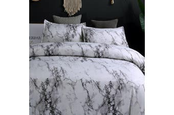 Marble Grey Quilt Cover Set (Single)