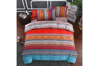 Mandala Quilt Cover Set, oriental (Double)