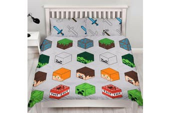 Minecraft Quilt Cover Set (Double)