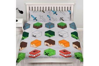Minecraft Quilt Cover Set (Queen)