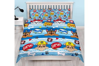 Paw Patrol Double/Queen Quilt doona duvet cover set (Double)
