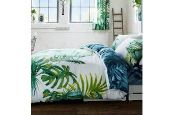 Palm Leaves Tree Tropics Quilt Cover Set (Double)