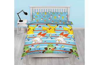 Pokemon Double/Queen Quilt Cover Set (Double)
