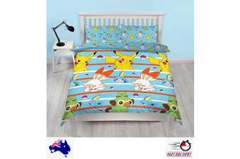 Pokemon Double/Queen Quilt duvet doona cover set (Double)