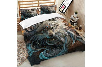 Wolf Dream Catcher Quilt Cover Set (Double)