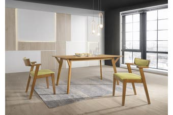 Designer Dining Table 150x90 cm Solid Hardwood 6 Seater in Oak