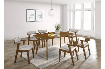 6 Seater Dining Table in Light Oak