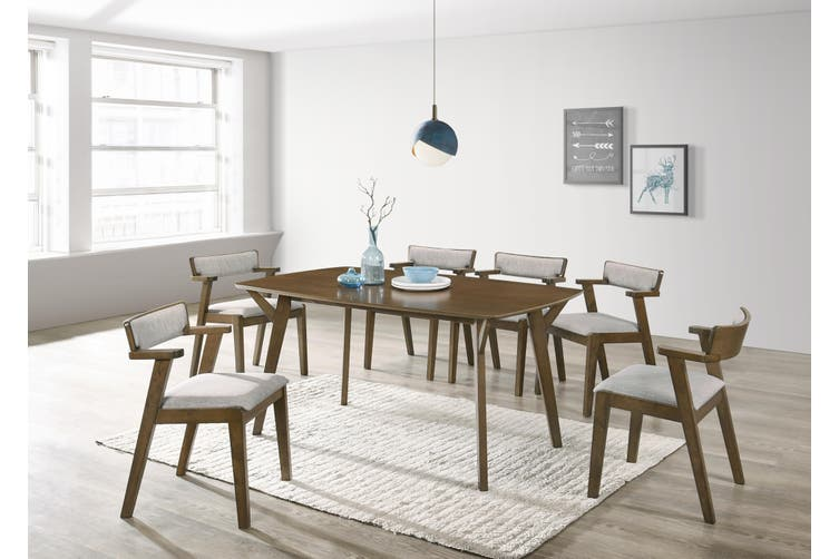 6 Seater Dining Table in Walnut