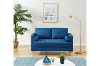 Cassandra 2 Seater Sofa Loveseat couch Blue