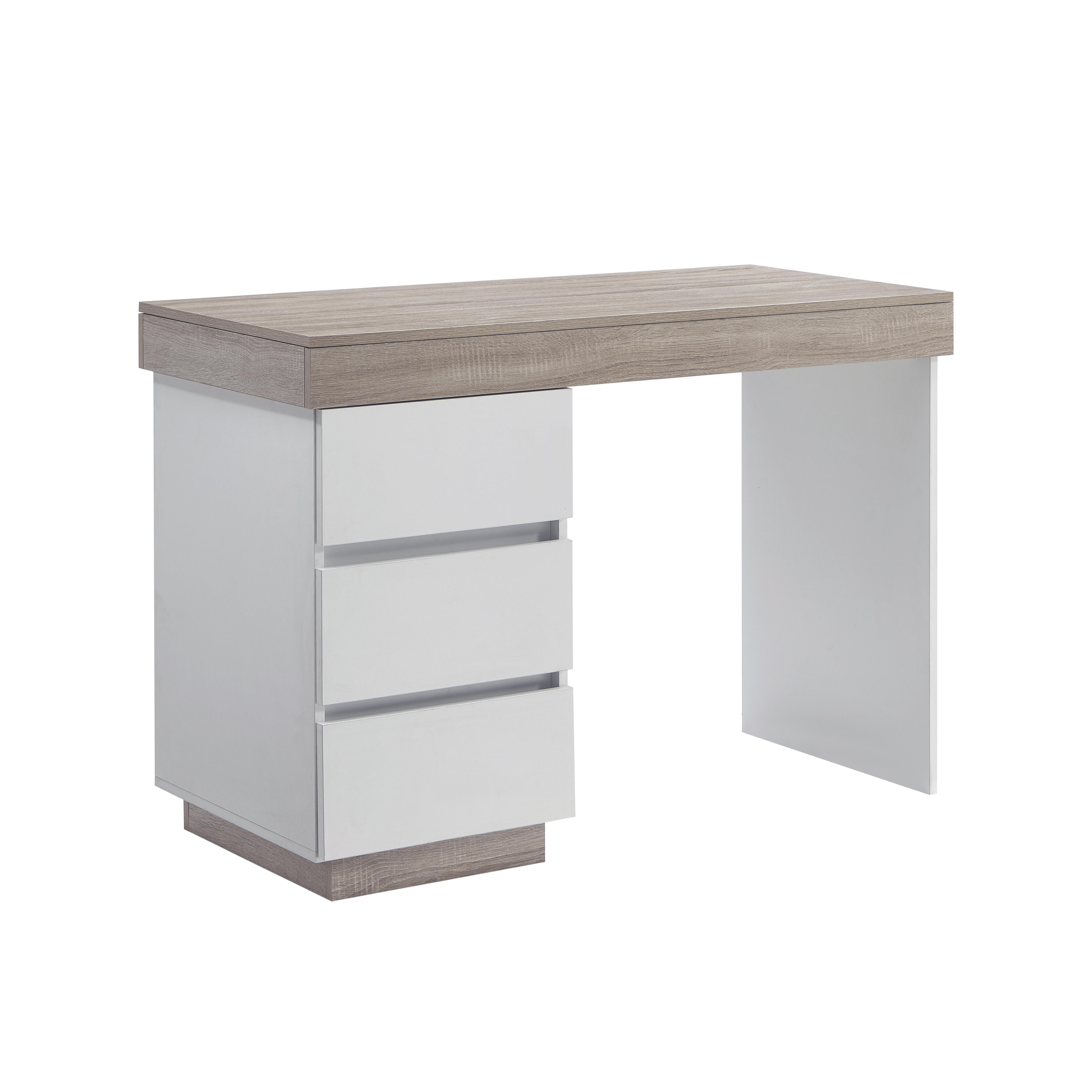 Ashley Coastal White Wooden Office Desk Matt Blatt