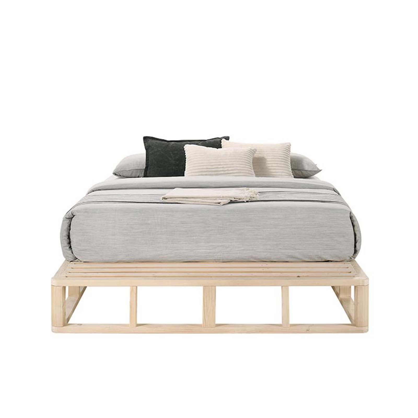 Wooden Platform Bed Frame Base King Single Matt Blatt