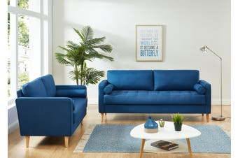 Cassandra 2 and 3 Seater Sofa Set Blue