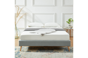 Sophia Bed Frame Modern Fabric Uphosltered Platform Bed Base in Light Grey Double|King|Queen