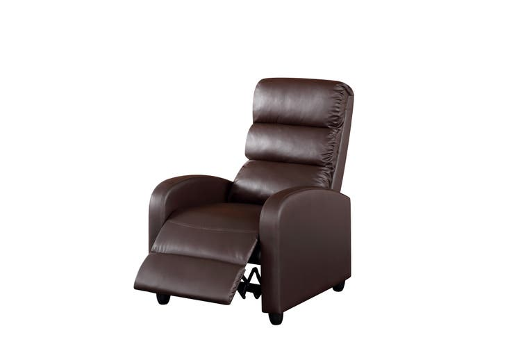 Luxury Leather Recliner Chair Armchair Brown Sofa Lounge Couch
