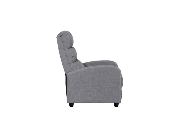 Luxury Fabric Recliner Chair Armchair Grey Sofa Lounge Couch