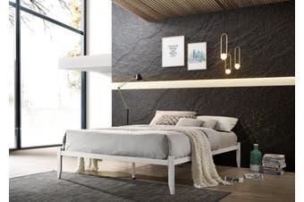 Metal Bed Base Frame Platform Foundation White - King Single