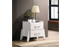 Wooden White Bedside Table  2 Drawers Storage Cabinet Nightstand