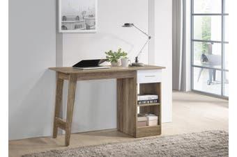 Office Computer Desk Study Table w/ Drawer Shelves Storage - Oak