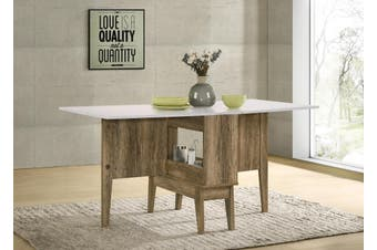 Drop Leaf Extendable Dining Table Folding Storage Gate Leg