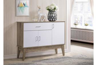 Extra Large Shoe Cabinet Storage Scandinavian - Oak