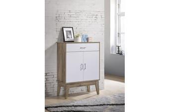 Shoe Cabinet with Drawer Storage Organiser Scandinavian - Oak