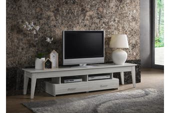Scandinavian TV Stand 200cm Entertainment Unit Cabinet in White Oak