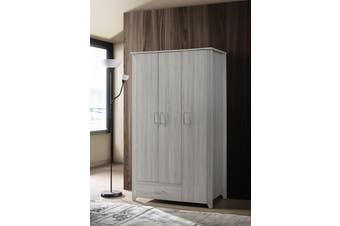 Large 3 Door Wardrobe Bedroom Storage Cabinet Closet