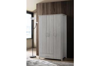 Large 3 Door Wardrobe Bedroom Storage Cabinet Closet