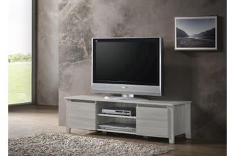 Modern TV Cabinet Entertainment Unit Stand Lowline120cm - White Oak