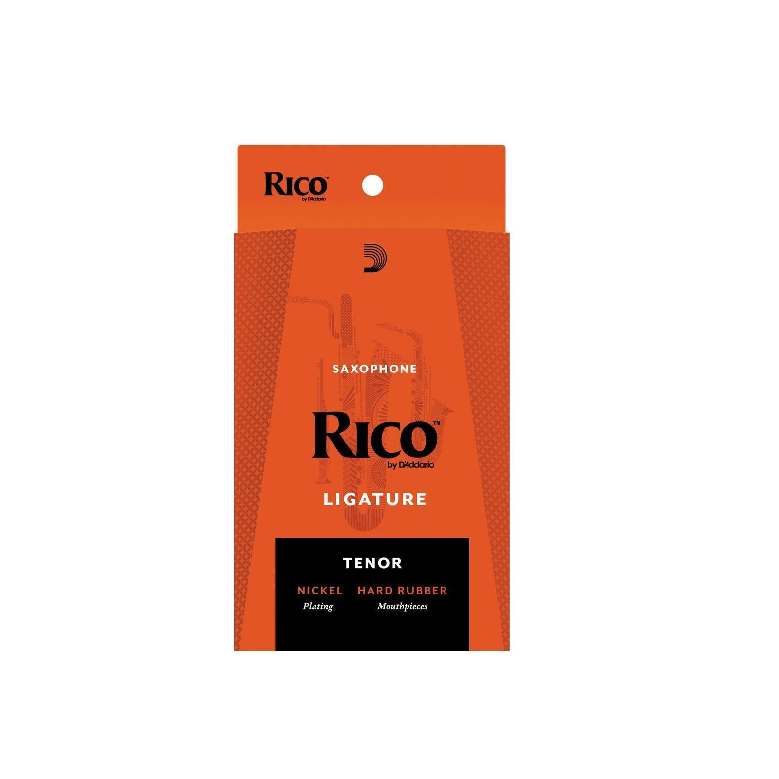 Rico Nickel Plated Ligature for Tenor Sax with Hard Rubber Mouthpieces