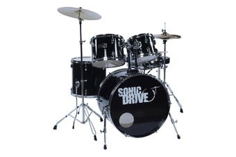 "Sonic Drive 5-Piece Fusion Drum Kit with 22"" Bass Drum (Black)"