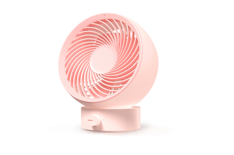 Select Mall 3 life 330 Portable Mini Air Circulation Fan Rotating Desktop Fan Strong Wind USB Charging-Pink