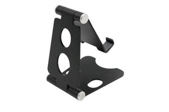 Select Mall Aluminum Alloy Mobile Phone Holder Adjustable Desktop Mobile Phone Folding Bracket-Black
