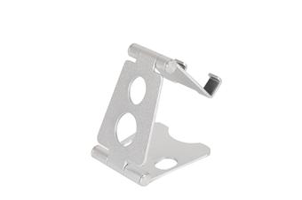 Select Mall Aluminum Alloy Mobile Phone Holder Adjustable Desktop Mobile Phone Folding Bracket-Silver