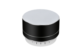 Select Mall Aluminum Alloy Wireless Bluetooth Speakers Outdoor Portable Mini Metal Speaker with LED Lights Support TF Card FM Radio-Black