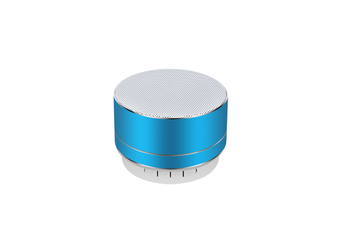 Select Mall Aluminum Alloy Wireless Bluetooth Speakers Outdoor Portable Mini Metal Speaker with LED Lights Support TF Card FM Radio-Blue