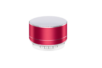 Select Mall Aluminum Alloy Wireless Bluetooth Speakers Outdoor Portable Mini Metal Speaker with LED Lights Support TF Card FM Radio-Red