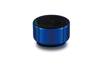 Select Mall Portable Wireless Bluetooth Small Speaker Mobile Phone Mini Metal Small Audio Card Car Subwoofer-Blue
