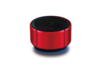 Select Mall Portable Wireless Bluetooth Small Speaker Mobile Phone Mini Metal Small Audio Card Car Subwoofer-Red