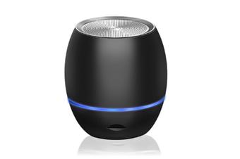 Select Mall Portable Mini Support Memory Card Bluetooth Wireless Speaker Mini Smart Audio Subwoofer-Black