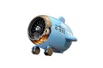 Select Mall Bluetooth Speaker Aircraft Model Bluetooth Audio Subwoofer Speaker Portable Wireless Mini Speaker-Blue