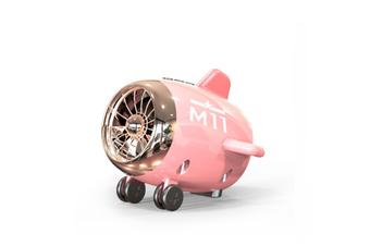Select Mall Bluetooth Speaker Aircraft Model Bluetooth Audio Subwoofer Speaker Portable Wireless Mini Speaker-Pink
