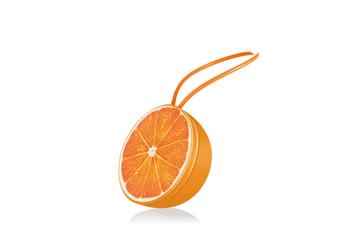 Select Mall Cartoon Fruit Bluetooth Speaker Wireless Bluetooth Speaker Outdoor Fruit Small Sound Phone Mobile Subwoofer-Orange