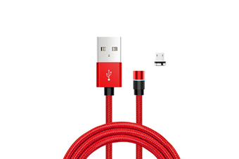 Select Mall Dot Magnetic Data Line 3 In 1 360 Degree Blind Magnetic Circular Magnetic Charging Line for Android-Red