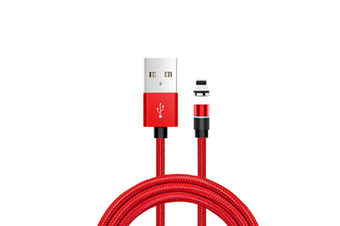 Select Mall Dot Magnetic Data Line 3 In 1 360 Degree Blind Magnetic Circular Magnetic Charging Line for Apple-Red