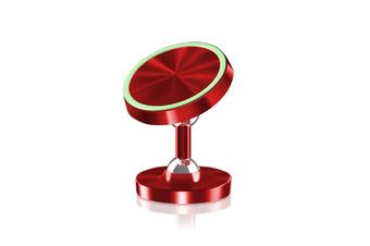 Select Mall Luminous Metal Magnetic Bracket Aluminum Alloy Magnetic Mobile Phone Bracket Car Bracket-Red