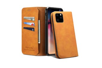 Select Mall Clamshell phone case Mobile Phone Case Protective Cover Suitable for iPhone 11 Series Wallet Case-Brown Iphone11 PRO 5.8 inch