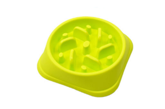 Select Mall Pet Bowl High Quality Plastic Slow Food Bowl Helps Dog Digestion Slow Food Bowl Pet Supplies-Green