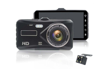 Select Mall 4 Inch HD 1080P Dual Lens Camera Night Vision Loop Recording 140 Degree Car DVR Video Dash Cam Front Rear Recorder