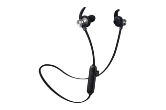 Select Mall Bluetooth Headset 5.0 Pluggable Card MP3 Wireless Sports Binaural True Stereo Hanging Neck Magnetic Earplugs-Black